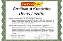 2012 Retrotec Level 2