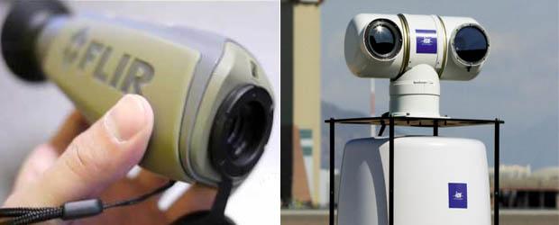 Портативный тепловизор и радар наземного базирования
