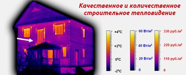 Качественное и количественное строительное тепловидение