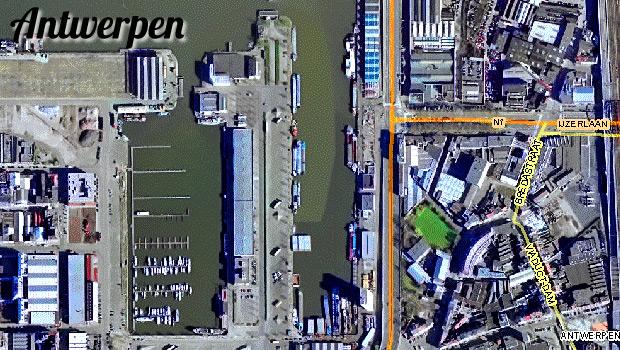 Антверпен - аэросъемка