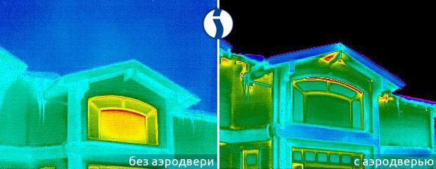 Тепловизионная съемка дома с аэродверью