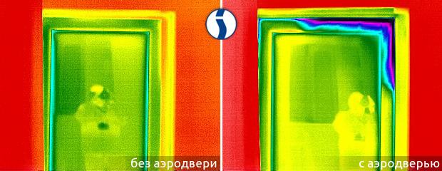Тепловизионная съемка двери с аэродверью