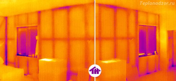 Термограмма без аэродвери