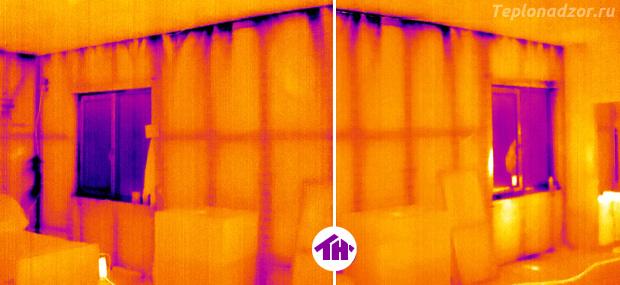 Термограмма под разряжением (с аэродверью)