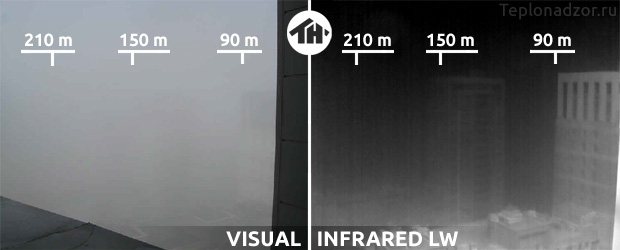 Термограмма здания туман 2