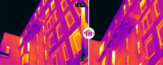 Термограмма увлажнение балконной плиты